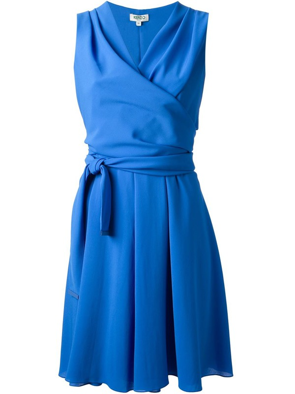 kenzo wrap-around dress