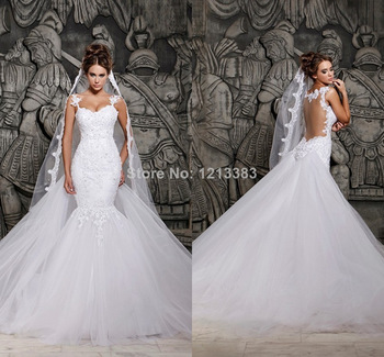 Aliexpress.com : Buy Latest Popular Design Sweetheart Lace Up White Organza Ruffles Backless Elegance Mermaid Wedding Dress Bridal Gown 2014 from Reliable dress patterns evening gowns suppliers on Clover Dresses
