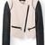 Block Trim Biker Jacket | Outfit Made