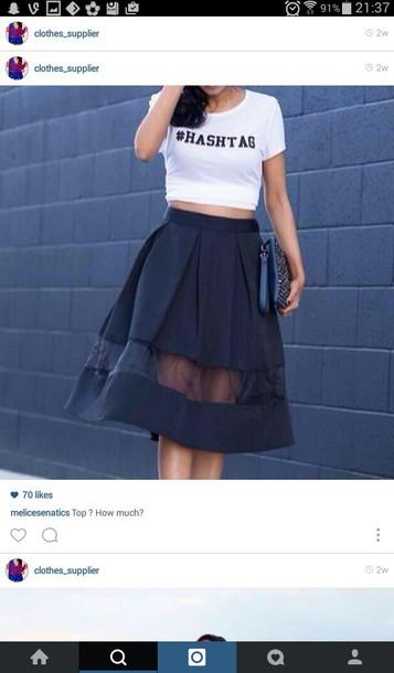 skirt mesh black skirt