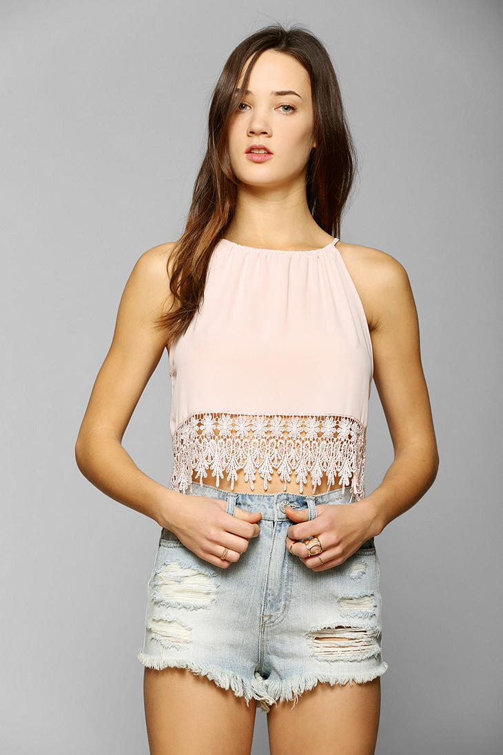 Staring At Stars Tunnel Crochet-Trim Tank Top - Urban Outfitters