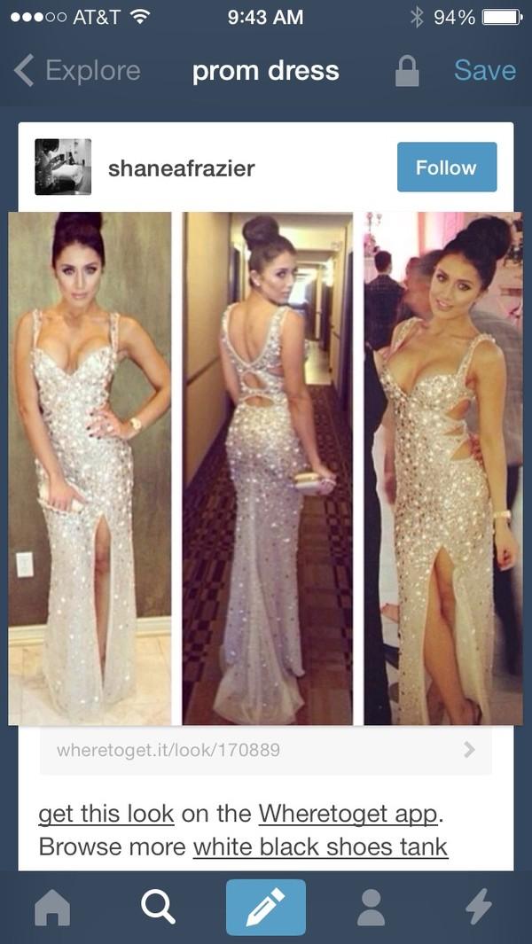 dress prom dress sparkly dress long prom dress fashion glitter dress prom