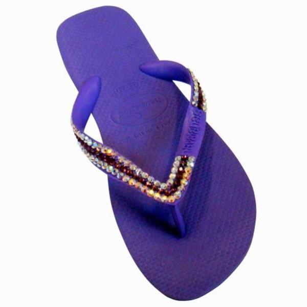 shoes havaiana sparkle purple orange blue pink boutique essex beach holidays party wedding flip-flops swarovski glitter