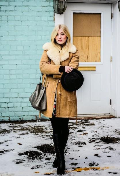 olivia shutey blogger hat winter coat
