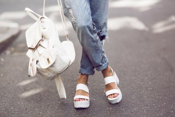 shoes white sandals platform sandals
