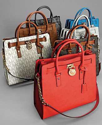 MICHAEL Michael Kors Large Hamilton Chain Tote with Silver Hardware - Handbags & Accessories - Macy's