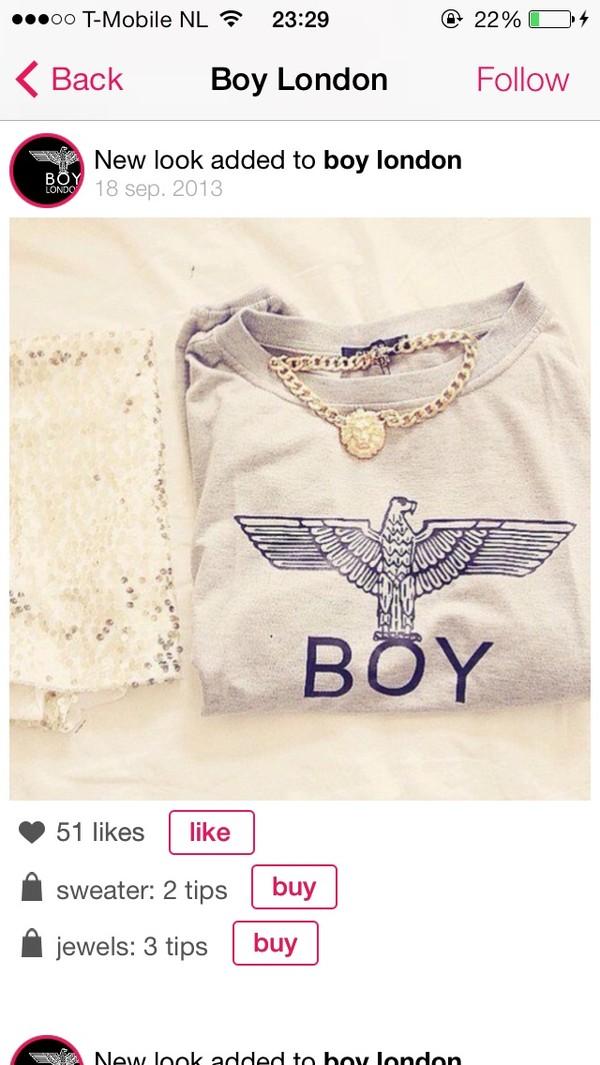 sweater boy boy london london boy london hoodie jewels