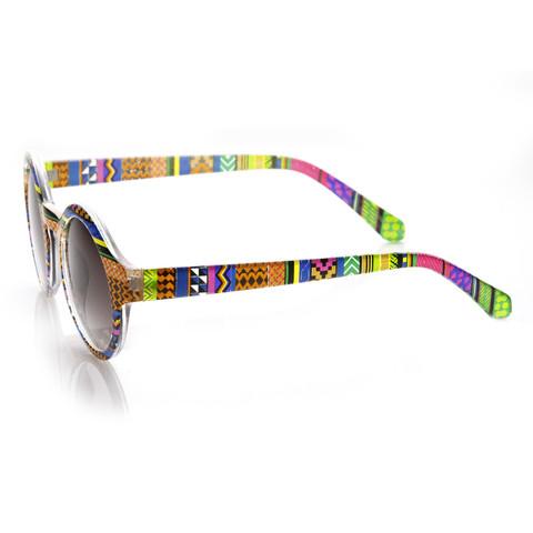 Retro Indie Hipster Fashion Round Pattern Sunglasses 8688                           | zeroUV