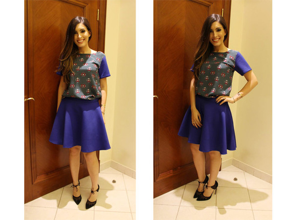 my fash diary top skirt shoes