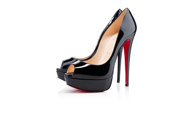 Lady Peep 150 Black Patent