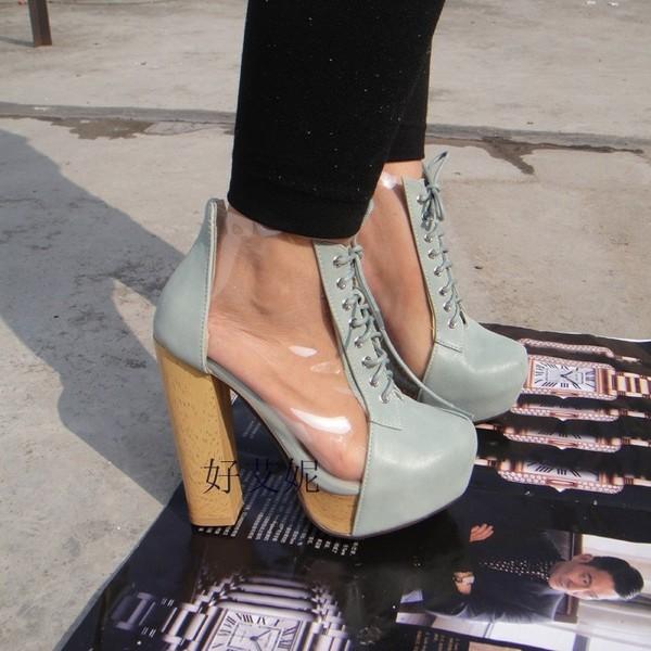 shoes pvc boots heels platform shoes ankle boots