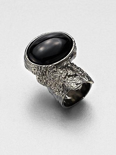 Saint Laurent - Antique-Inspired Silvertone Arty Ovale Ring - Saks.com
