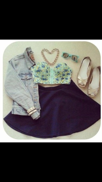 tank top floral tank top green and blue