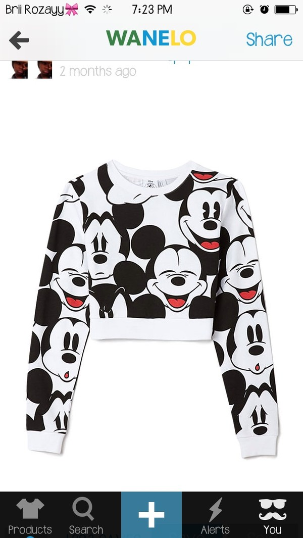 sweater mickey mouse cropped