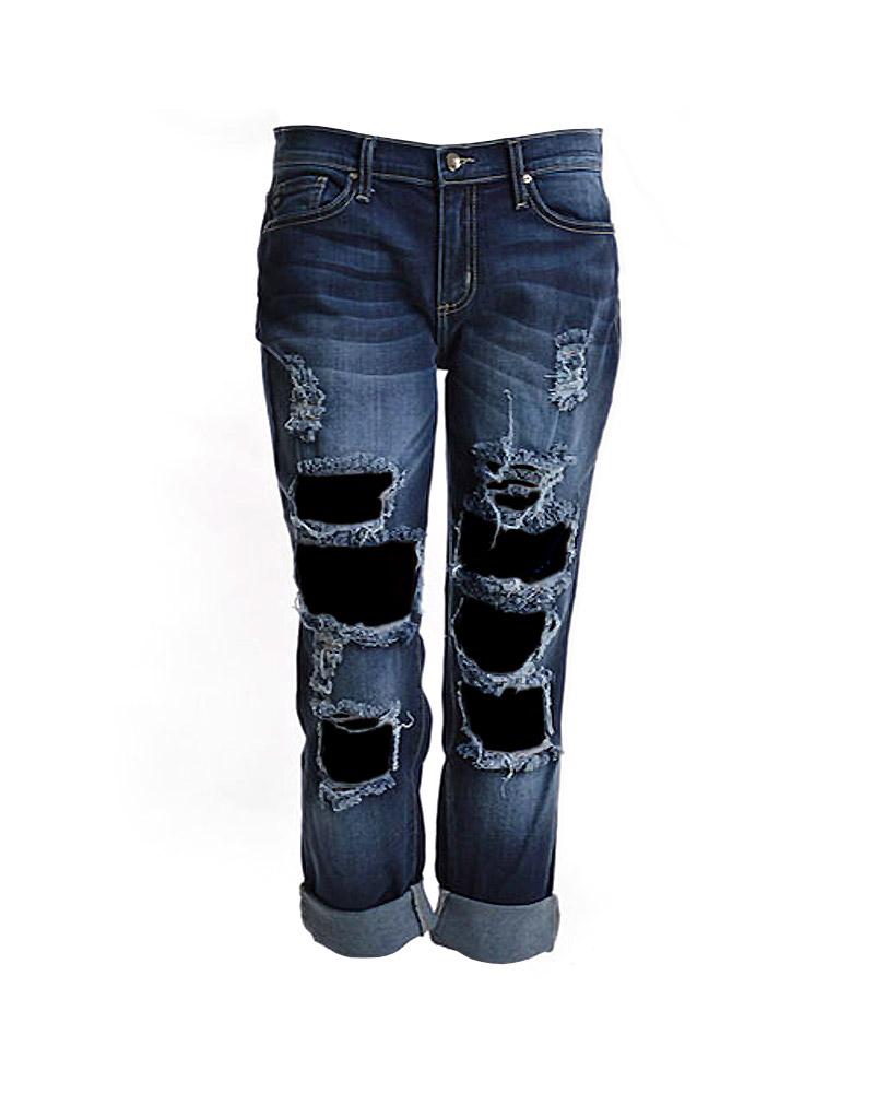 distressed boyfriend jeans | women's jeans | 7twentyfour.com