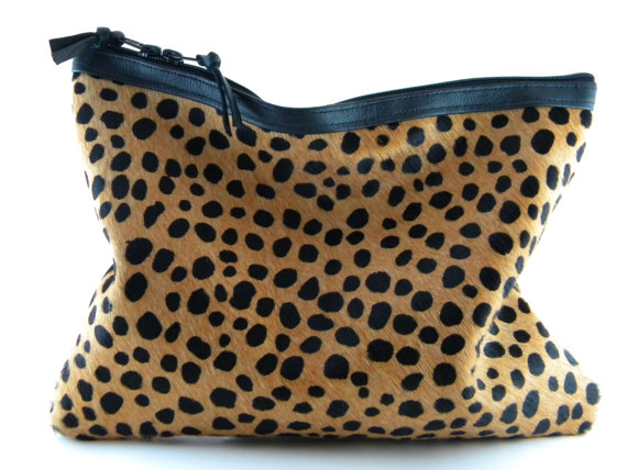 BACK IN STOCK  Spotted ll Calf Hair Leather by lovecortnie on Etsy