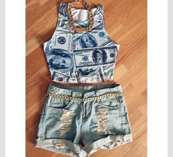 top money crop tops dope cute fashion