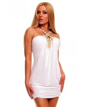 White Halter Clubwear Sexy Mini Dress