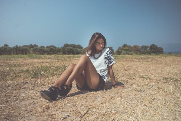 blouse EVs Fashion Stories Evs Stories leather shorts