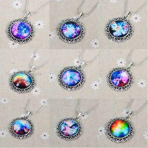 Funky Glass Galaxy Sky Handmade Photo Pendant Charm Time Friendship Necklace | eBay