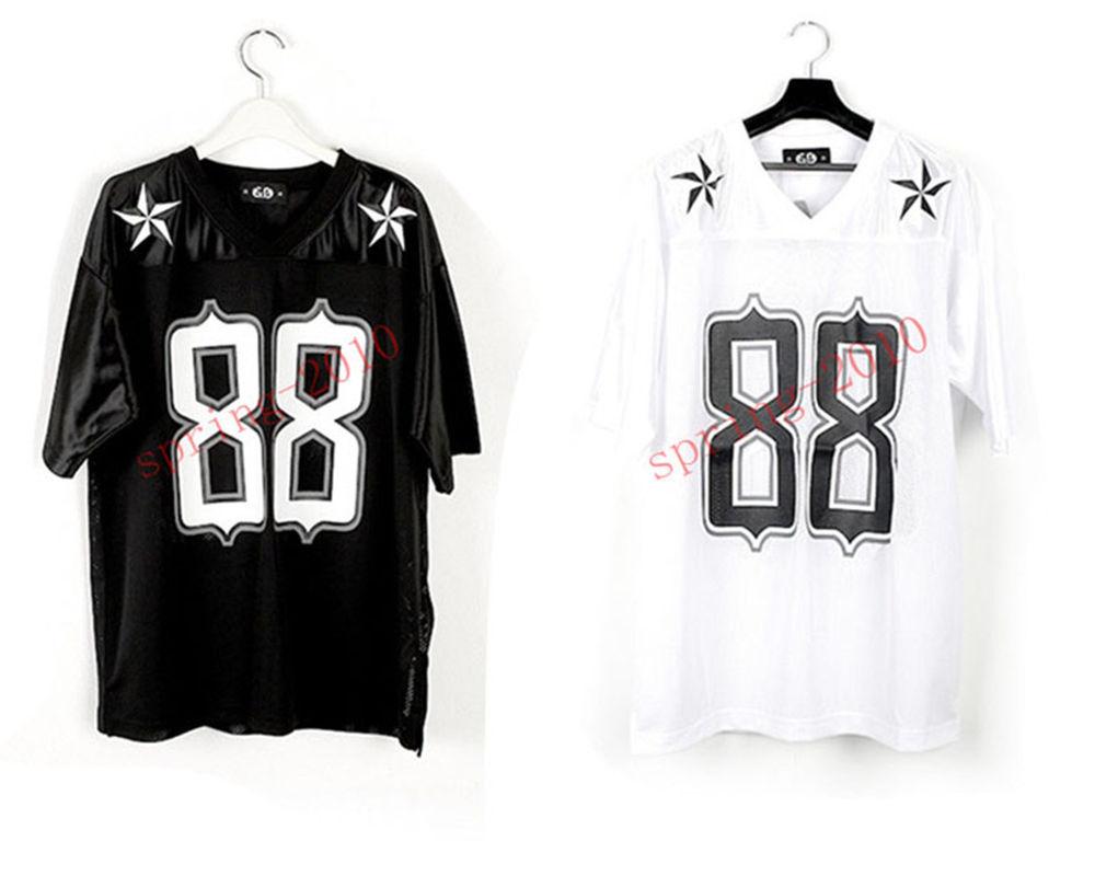 KPOP BIGBANG G Dragon GD 2013 One of A Kind 88 Football T Shirt Black White Tee | eBay