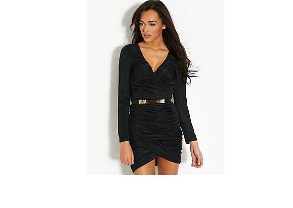 Rare Bodycon Wrap Dress - BANK Fashion