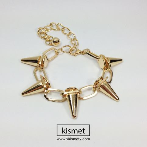 Gold Chain Spike Bracelet · kismet · Online Store Powered by Storenvy