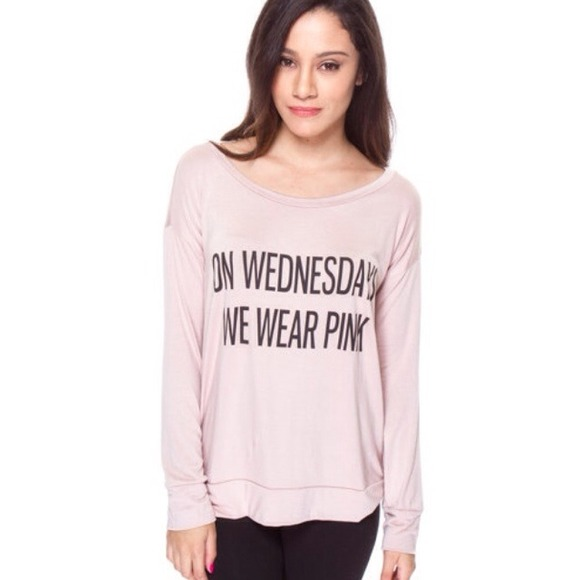 ON WEDNESDAYS WE WEAR PINK L from Maribel's closet on Poshmark