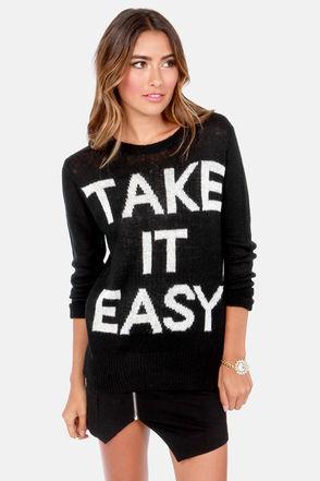 Element Eden Slacker Sweater - Black Sweater - Knit Sweater - $59.50