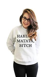 Hakuna Matata Bitch Lion King Disney Parody Sweatshirt Dope Skate Swag Sweater   eBay