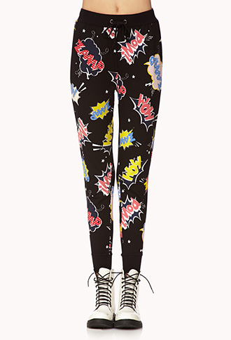 Pow! Comic Sweatpants | FOREVER 21 - 2000074759