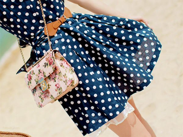 bag floral white pink gold chain dress