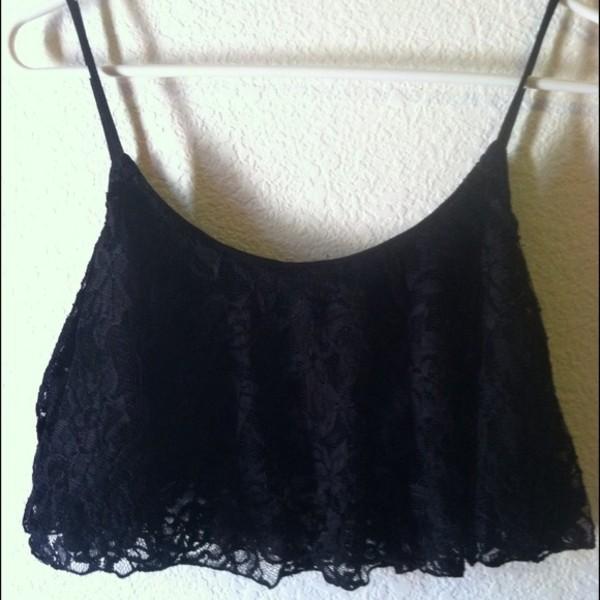 top lace black black lace crop crop tops lace crop top crop tops crop tops spaghetti strap spaghetti strap