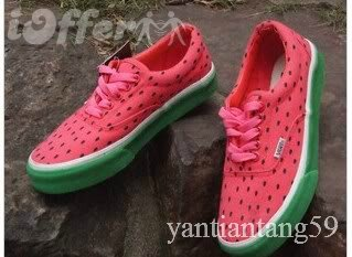 Red Watermelon Fruit Sneaker mens Lace-up Shoes 40-42 for sale