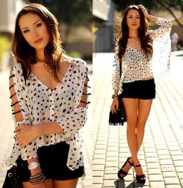 t-shirt shorts top blouse