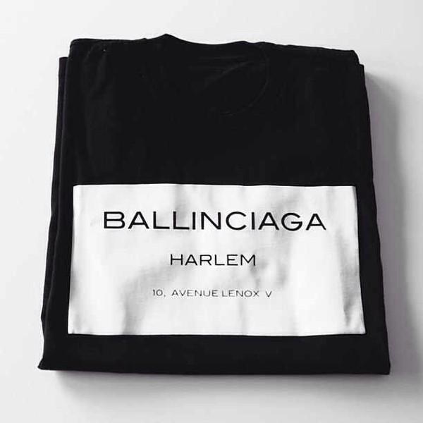 t-shirt balinciaga harlem shirt black casual chic blogger top