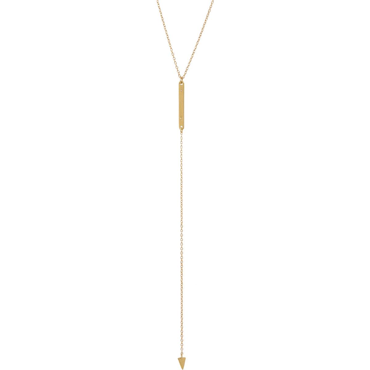Loren Stewart Diamond Baby Bar & Arrow Drop Necklace at Barneys.com