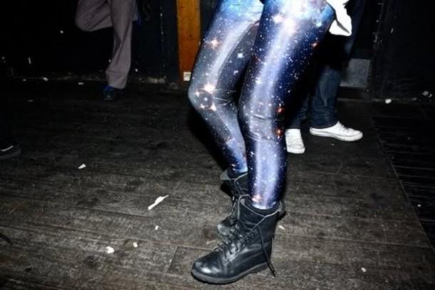 galaxy print leggings skinny pants Black Milk shoes tights