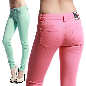 MOGAN Candy Colored Ankle Skinny Jeans   eBay