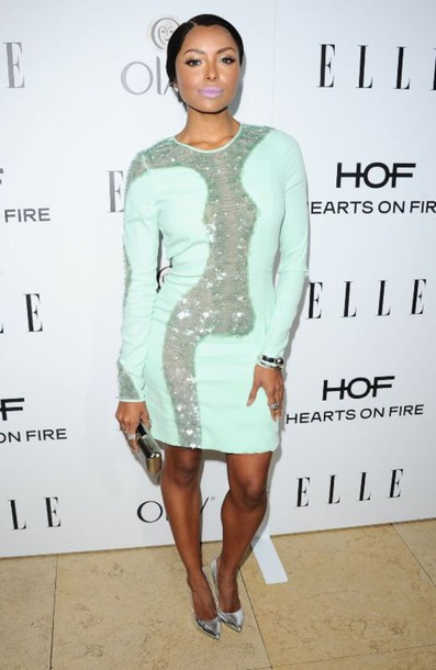 dress kat graham pastel dress azzaro