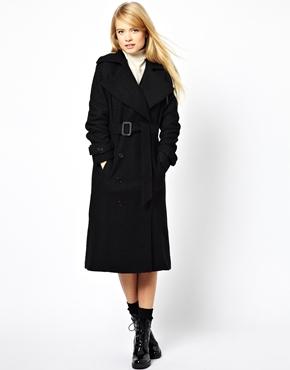 ASOS   ASOS Premium Coat in Textured Wool at ASOS