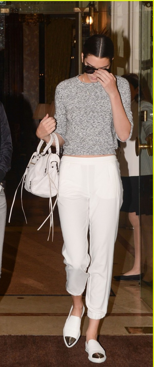 kendall jenner pants sweater shoes