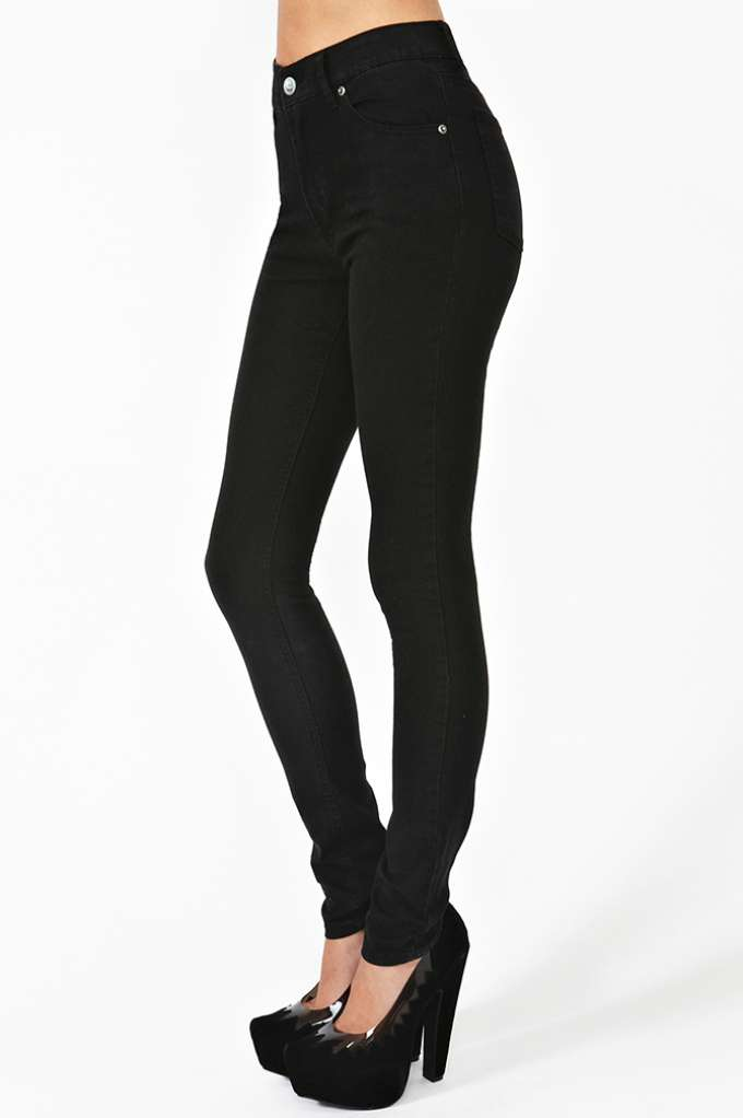 Cheap Monday Second Skin Jeans - Black in  Clothes Bottoms at Nasty Gal