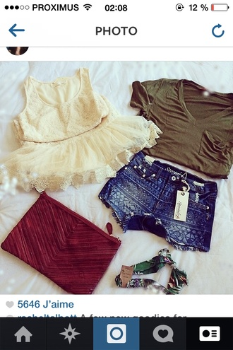 bag shorts ethnic festival summer top tank top t-shirt shirt lace dress lace white clothes blouse dress hat