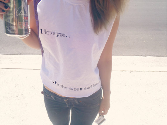 I Love You Crop Top - Nerdy Youth