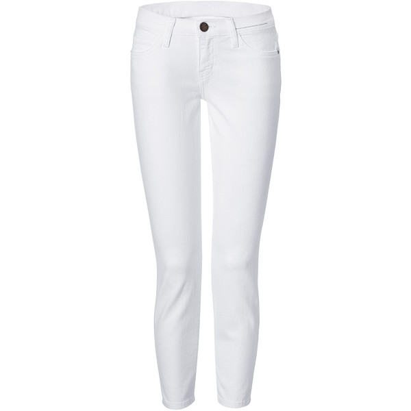 CURRENT/ELLIOTT The Stiletto White 7/8 Jeans - Polyvore