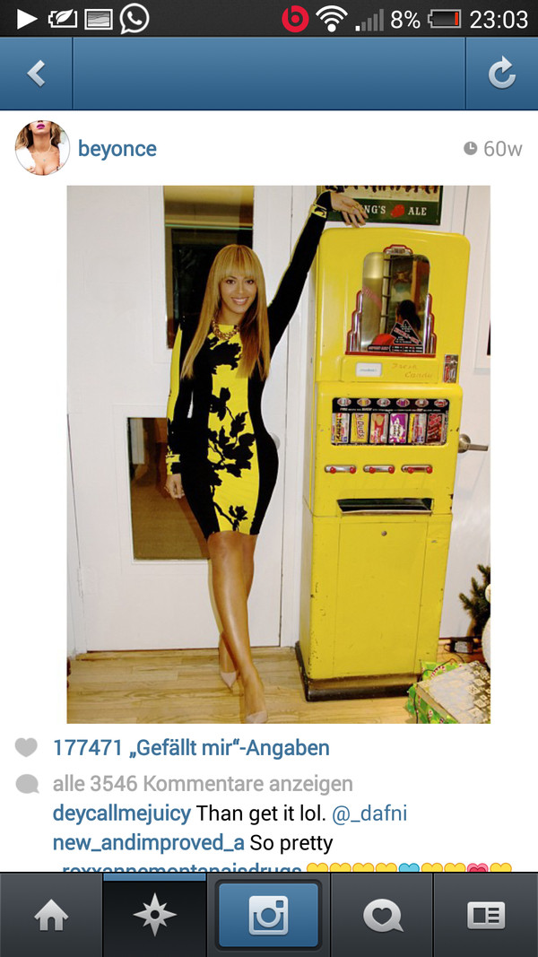 dress beyonce yellow black long sleeve dress