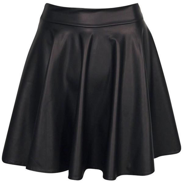 Boohoo Jules Leather Look Skater Skirt - Polyvore