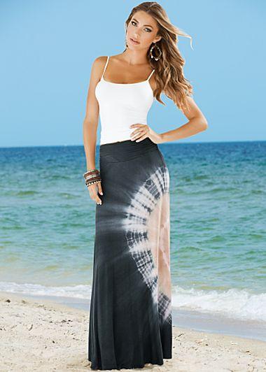 Black Cami, tie dye maxi skirt from VENUS