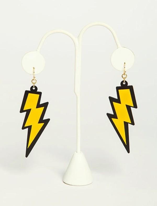 jewels earrings lighting lightning bolt